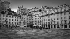 Praça do Município Lisbon by Sorin Popovich