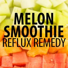 Dr Oz's acid reflux remedies for women included a delicious Banana Melon Ginger Smoothie Recipe and Manuka Honey to reduce the inflammatory symptoms. Low Acid Recipes, Acid Reflux Recipes, Melon Smoothie, Ginger Smoothie, Smoothie Drinks, Healthy Smoothies, Healthy Drinks, Smoothie Recipes, Healthy Shakes