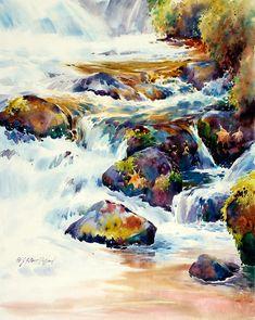 """Wahkeena"" Watercolor on Multi Media Canvas ""20 x 16"" by julia pollard"