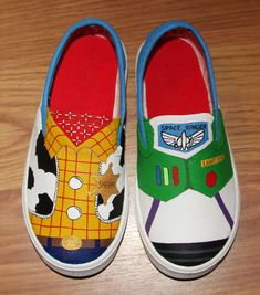 Toy Story woody buzz lightyear Disney kids boys girls Custom hand painted  canvas shoes sneakers slip on zapatillas pintadas 39414944a