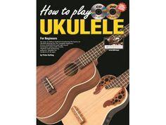 Progressive How to Play Ukulele Book CD & DVD - 15053 Ukulele Books, Cool Ukulele, Mandolin Lessons, Ukulele Accessories, Banjo, Play, Learning, Fun, Studying