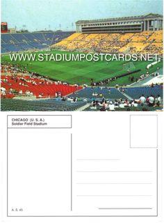 € 2,00 - code : USA-042 - Chicago - Soldier Field - stadium postcard cartolina stadio carte stade estadio tarjeta postal