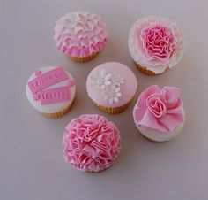 Flowers and Frills Cupcakes by bakingarts, via Flickr