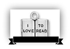 Book Bling - I Love to Read Antique Silver Charm from Inglath Cooper Books