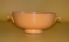 FIESTAWARE Original Yellow Footed Casserole Bowl Homer Laughlin Vintage