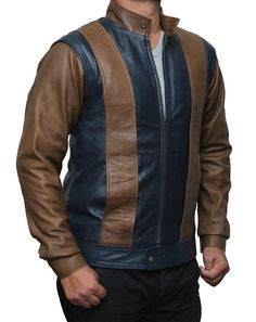X Men Real Leather Jacket at Amazon Men's Clothing store: