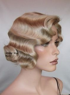 Finger Wave Wig Rose #22 Blonde.  Quality!  Fingerwave  BEST SELLER!  Theatre  #Hair #Accessories