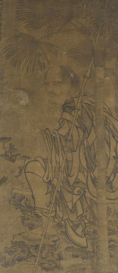 a luohan seated under a palm kanaka 1500