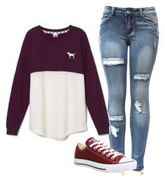"""""""Simple"""" by livvie47 on Polyvore featuring Victoria's Secret and Converse"""