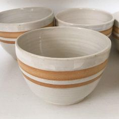 Most up-to-date No Cost Pottery Wheel aesthetic Popular White pottery bowl set – Elegant modern wheel-thrown CascadillaClay shop. Pottery Supplies, Pottery Classes, Pottery Bowls, Ceramic Pottery, Glazed Pottery, Blue Pottery, Ceramic Decor, Paint Your Own Pottery, Wheel Thrown Pottery