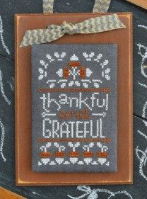 NEW Thankful Grateful : November A Year In Chalk Hands on Design cross stitch patterns threads Thanksgiving holidays