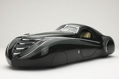 1939 Duesenberg Coupe Simone Midnight Ghost. The car was made by the American Car designer Emmet-Armand.
