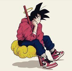 Goku x Air Jordan 1 Goku Wallpaper, Screen Wallpaper, Iphone Wallpaper, Dragon Ball Z, Naruto, Sasuke, Trippie Redd, Otaku, Kid Goku
