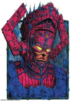 Galactus from Marvel Universe - eater of planets. Marvel Villains, Marvel Comics Art, Bd Comics, Marvel Fan, Marvel Characters, Marvel Heroes, Marvel Movies, Captain Marvel, Comic Book Artists