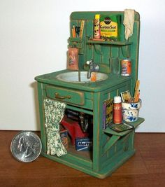 potting shed sink, Marquis Miniatures on etsy