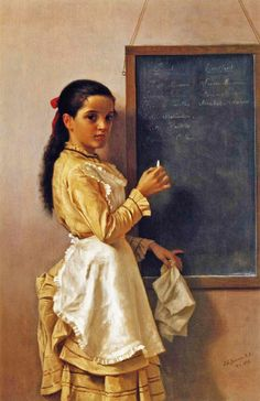 """What's Your Name?"" (1876), by English-born American artist - John George Brown (1831-1913), Oil on canvas."