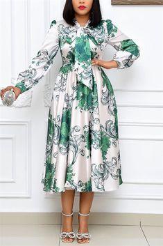 Stylish Dresses, Casual Dresses, Fashion Dresses, Dresses Dresses, Long Summer Dresses, White Dress Summer, Green Dress, Big Size Fashion, Green Fashion