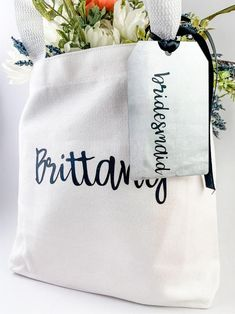 Cute Home Decor Personalized Canvas Tote and Tag Custom Gift Bag Wedding Gifts For Couples, Personalized Wedding Gifts, Customized Gifts, Cute Home Decor, Cheap Home Decor, Custom Gift Bags, Old Home Remodel, Personalised Canvas, Beautiful Houses Interior
