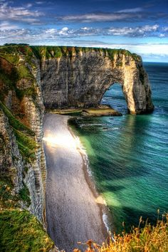 Etretat (Normandy, France).