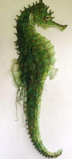 green - verde - seahorse - cavalo marinho