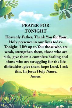 Goodnight Quotes Inspirational, Bible Verses Quotes Inspirational, Inspirational Prayers, Bible Quotes, Short Prayers, Bible Prayers, Bible Scriptures, Good Night Prayer, Good Night Quotes