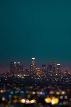 Downtown Los Angeles, California Skyline at Night