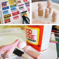We've got the pegs and great Jen brand foam brushes at www.caseyswood.com. Now you just need Mod Podge and your imagination!
