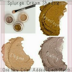 Splurge cream shadows, new from Younique! CLICK ON PIC https://www.youniqueproducts.com/hewalden