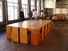 Donald Judd's loft at 101 Spring Street Furniture Projects, Cool Furniture, Furniture Design, Lofts, Interior Architecture, Interior Design, Wood Table, Modern Minimalist, Decoration