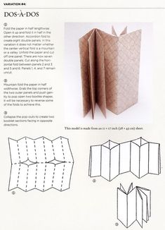 handmade books Dos-A-Dos accordion fold book tutorial from Playing with Paper by Helen Hiebert Up Book, Book Art, Paper Book, Paper Art, Cut Paper, Mini Albums, Book Crafts, Paper Crafts, Bookbinding Tutorial