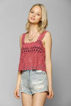 Staring At Stars Crochet Tank #urbanoutfitters
