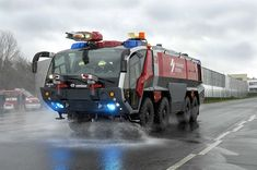 Rosenbauer PANTHER airport fire truck by Beast One of the most advanced machines out there. Fire Equipment, Heavy Equipment, Fire Dept, Fire Department, Cool Trucks, Big Trucks, Ambulance, Cool Fire, Automobile