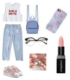 """""""This outfit it is FOR a laizy day😉"""" by andreeaberecz on Polyvore featuring adidas Originals, STELLA McCARTNEY and Smashbox"""