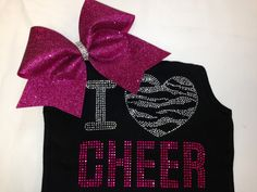 I love cheer tank top or shirt with matching bow!!