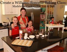 Cute cookie class inspired by the American Girl baking classes sponsored by Williams-Sonoma.  Cute version for dolls too!