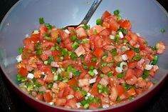 Lasary Voatabia, tomato and bell pepper salad