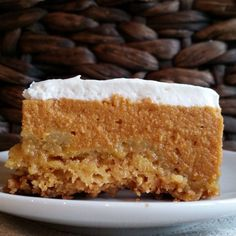 Pumpkin Crunch:  Something about the buttery, crunchy, nutty topping baked into the creamy pumpkin pie filling and topped with whipped cream is simply irresistible.