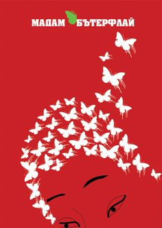 A very simple design, but it caught my attention as the butterflies are shaped as her hair. the white and red makes the design eye catching and the font is centered.  The typography is bold and large making it instantly noticeable to the target audience.
