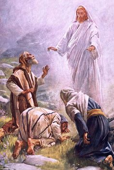 The Transfiguration by Harold Copping {c.1907} ~ Jesus