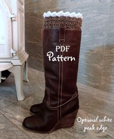 PDF CROCHET PATTERN Snow Country Boot Cuffs, 2-in-1 Boot Toppers by NorthernCottageGifts, $3.50