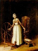 Pehr Hilleström  Ett fruent: Som spinner bomull, 1775