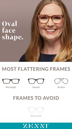 7427c0a7f5 Find the most flattering frames for all face shapes! Which shape are you   Glasses
