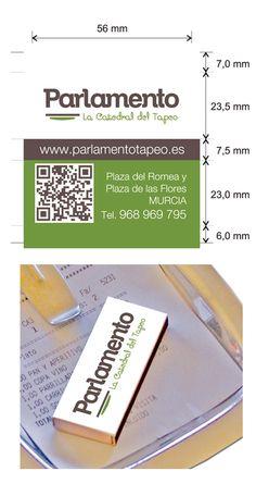 Propuesta de Caja de Cerillas para Restaurante Parlamento en Murcia.
