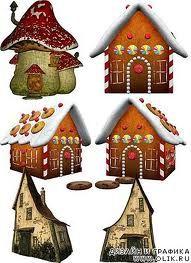 вектор иконки сказочных домиков - Поиск в Google