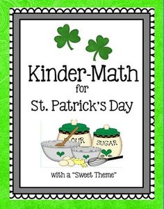 This St. Patrick's Day themed math download has been designed to use with Kindergarten students. It contains 16 pages perfect to use in math centers, seat work or for holiday homework.Skills/Activities included:- Counting- Number Recognition- Easy addition and subtraction (visuals/counters)- Matching numbers with number words (below ten)- Patterns- More / Less- Before / After- Smallest / Biggest- Recognizing differences- Shape recognition (circle, triangle, square)- cutting and coloring…