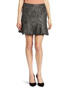 DKNYC Women's Sparkle Tweed Mini Ruffle Skirt DKNYC. $57.84. Made in China; 49% Polyester/34% Acrylic/17% Viscose; This skirt looks great when paired back to our tweed jacket with faux leather sleeves.; Dry Clean Only; The sparkle tweed fabric gives this skirt a dressier feel, while the ruffle and raw edge offers a feminine touch with an edge.