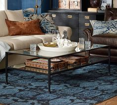 Tanner Rectangular Coffee Table - Bronze finish | Pottery Barn