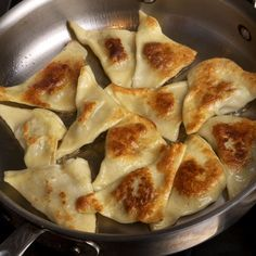 Kreplach: Jewish (Ashkenazi) potato-filled dumpling.