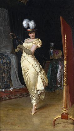 Preparing for the ball  - Charles Joseph Frederic Soulacroix (French,1825 - 1879)