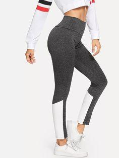 quality design 4e737 377c6 Colorblock Skinny Leggings -SheIn(Sheinside) Sports Wallpapers, Sport Man,  Spring Dresses